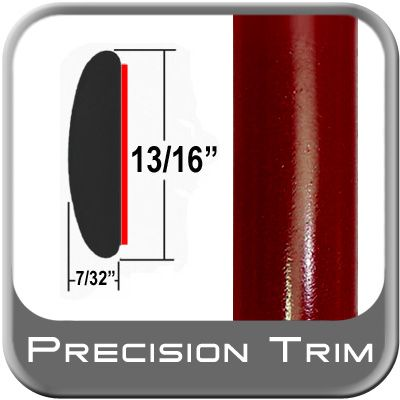 """7/8"""" Wide Red (Dark) Molding Trim ( PT31 ), Sold by the Foot, Precision Trim® # 40100-31-01"""