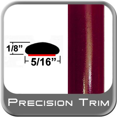 """5/16"""" Wide Medium Red Metallic Wheel Molding Trim ( PT44 ), Sold by the Foot, Precision Trim® # 24200-44"""