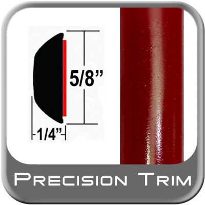 "5/8"" Wide Salsa Red Wheel Molding Trim 3Q3 ( CP39 ), Sold by the Foot, ColorTrim Plastics® # 80-39"