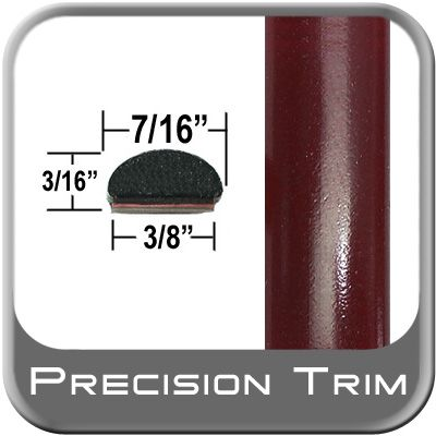 """7/16"""" Wide Dark Red Wheel Molding Trim ( PT39 ), Sold by the Foot, Precision Trim® # 2150-39"""