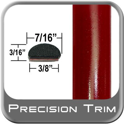 """7/16"""" Wide Medium Red Wheel Molding Trim ( PT55 ), Sold by the Foot, Precision Trim® # 2150-55"""