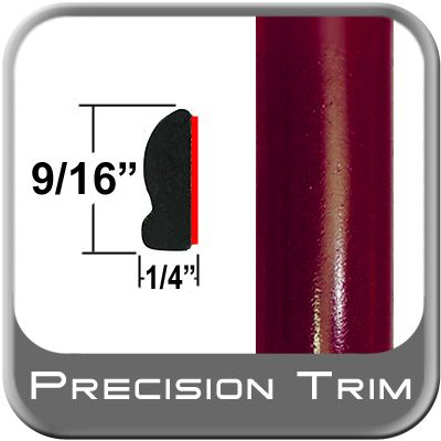 """9/16"""" Wide Medium Red Metallic Wheel Molding Trim ( PT44 ), Sold by the Foot, Precision Trim® # 9150-44"""