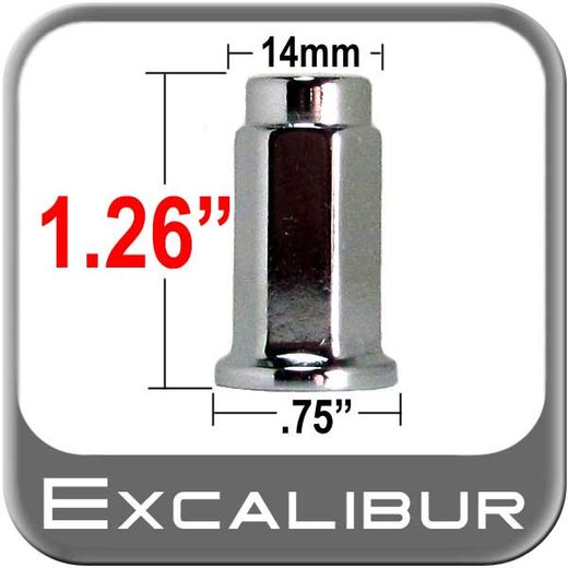 """Excalibur® 3/8"""" x 24 3/8"""" x 24 Trailer Nut Flat (Flanged) Seat Right Hand Thread Chrome Sold Individually #98-0013"""