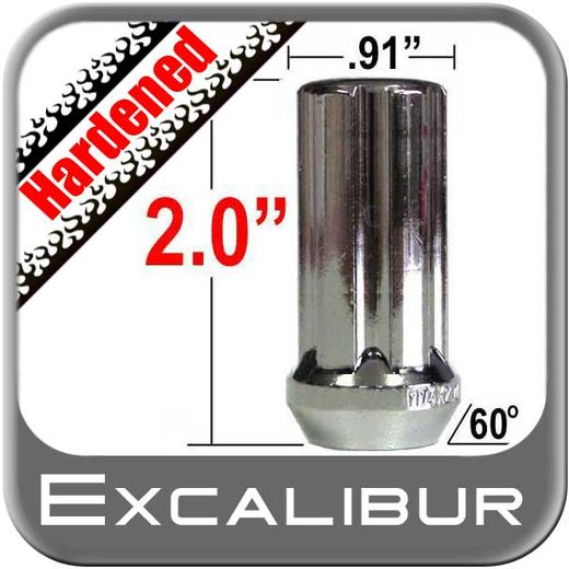 """Excalibur® 9/16"""" x 18 Lug Nuts Tapered (60°) Seat Right Hand Thread Chrome Sold Individually #98-0420L"""