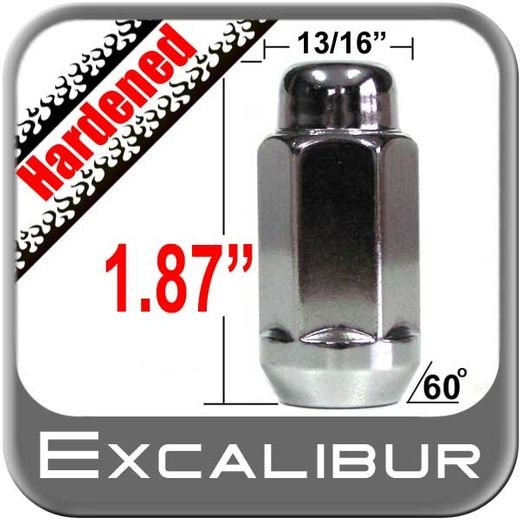 """Excalibur® 5/8"""" x 18 Chrome Lug Nuts Tapered (60°) Seat Left Hand Thread Chrome Sold Individually #1740XLHD"""