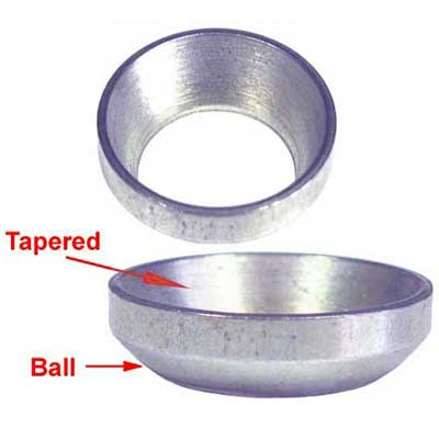 Adapter Washer Ball Seat Wheel To Standard 60 Degree Taper Lug 10 Pack