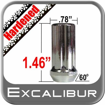 """Excalibur® 1/2"""" x 20 Lug Nuts Tapered (60°) Seat Right Hand Thread Chrome Sold Individually #98-0354"""