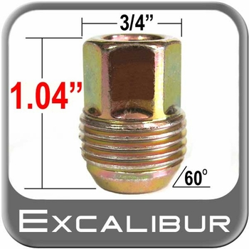 Excalibur® 12mm x 1.5 GM Lug Nuts - Small Tapered (60°) Seat Right Hand Thread Yellow Sold Individually #98-0016