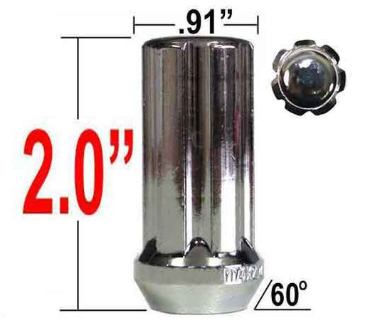 Excalibur® 14mm x 1.5 Lug Nuts Tapered (60°) Seat Right Hand Thread Chrome Sold Individually #98-0419L