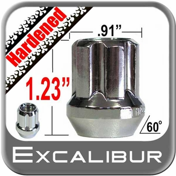 Excalibur® 14mm x 1.5 Lug Nuts Tapered (60°) Seat Right Hand Thread Chrome Sold Individually #98-0419OE