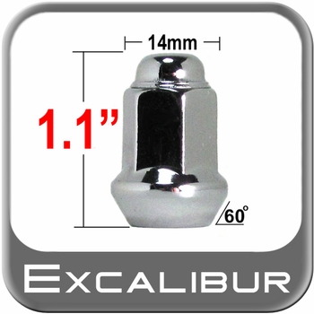 "Excalibur® 3/8"" x 24 Chrome Lug Nuts Tapered (60°) Seat Right Hand Thread Chrome Sold Individually #98-0028"