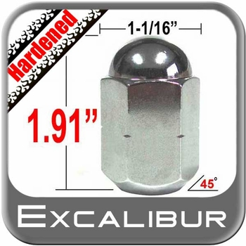 """Excalibur® 5/8"""" x 18 Chrome Duallie Lug Nuts Tapered (45°) Seat Left Hand Thread Chrome Sold Individually #3140HD"""