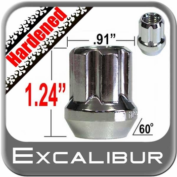"""Excalibur® 9/16"""" x 18 Lug Nuts Tapered (60°) Seat Right Hand Thread Chrome Sold Individually #98-0420OE"""
