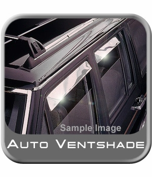 Ford F350 Truck Rain Guards / Wind Deflectors 1987-1998 Ventshade Stainless Steel 4-piece Set Auto Ventshade AVS #14075