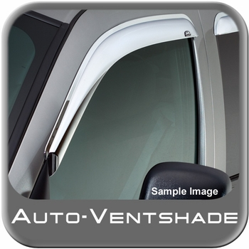 Ford F450 Truck Rain Guards / Wind Deflectors 1999-2015 Ventvisor Chrome Plated ABS Plastic Front Pair Auto Ventshade AVS #682503
