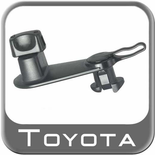 Genuine Toyota Floor Mat Retainer Hooks Black Plastic Floor Mat Clips Twist-Lock Style Set of 2 #08211-08630