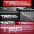 Genuine Toyota TRD Off Road Decal TRD OffRoad Quarter Panel Sticker Silver w/ Charcoal Sold Individually #PT211-TT980-28