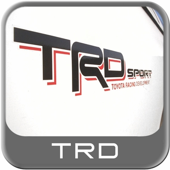 Genuine Toyota TRD Sport Decal TRD Sport Driver Side Sticker Black w/Red Shadow Sold Individually #PT211-3403L-03