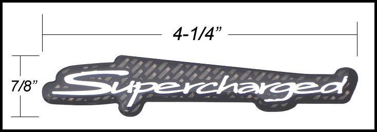 Thicken Metal Black Turbo Super Charger SUPERCHARGED Engine Emblem Badge Sticker