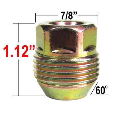 Gorilla® 14mm x 1.5 GM Lug Nuts - Large Tapered (60°) Seat Right Hand Thread Yellow Sold Individually #96148GM