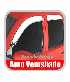GMC Canyon Rain Guards / Wind Deflectors 2004-2012 Ventvisor Chrome Plated ABS Plastic 4-piece Set Auto Ventshade AVS #684133