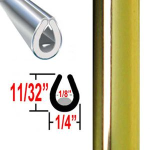 """""""U"""" Style Gold Door Edge Guard Sold by the Foot, Trim Gard® # 26"""