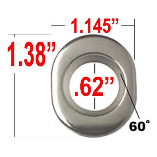 Gorilla® Chrome Lug Nut Washer E-T Ultra Mag/Tapered (Center) Round Sold Individually #79918