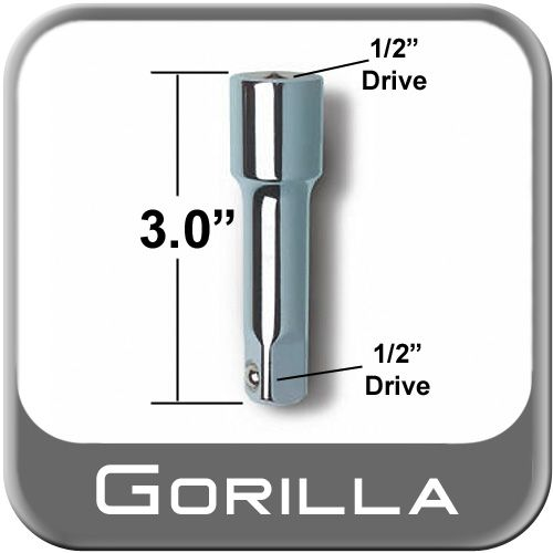 """Gorilla® Power Wrench Extension 3"""" Long x 1/2"""" Drive Sold Individually #3EXT"""