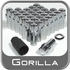 "Gorilla® 1/2"" x 20 Wheel Locks Mag Seat Right Hand Thread Chrome 32 Locks w/Key #75685N"