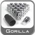 "Gorilla® 1/2"" x 20 Wheel Locks Tapered (60°) Seat Right Hand Thread Chrome 20 Locks w/Key #71483N"