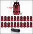 Gorilla® 12mm x 1.25 Lug Nuts Tapered (60°) Seat Right Hand Thread Red 20 Nuts w/Key #21123RD
