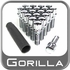 Gorilla® 12mm x 1.5 Lug Bolts Tapered (60°) Seat Right Hand Thread Chrome 20 Bolts w/Key #17179SD-20