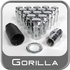 Gorilla® 12mm x 1.5 Wheel Locks Mag Seat Right Hand Thread Chrome 16 Locks w/Key #73632N
