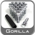 Gorilla® 12mm x 1.75 Wheel Bolts Tapered (60°) Seat Right Hand Thread Chrome 20 Bolts w/Key #17060SD-20