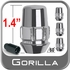 Gorilla® 12mm x 1.75 Wheel Locks Tapered (60°) Seat Right Hand Thread Chrome 4 Locks w/Key #71661N