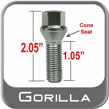 Gorilla® 14mm x 1.5 Bolt Lug Tapered (60°) Seat Right Hand Thread Chrome Sold Individually #17018