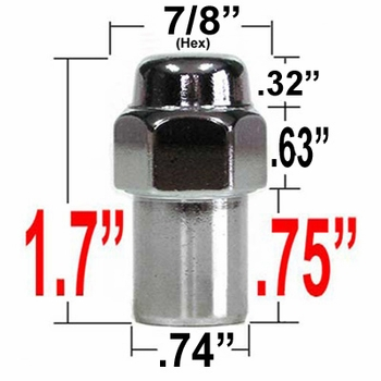 Gorilla® 14mm x 1.5 Chrome Lug Nuts Mag Seat Right Hand Thread Chrome Sold Individually #73148