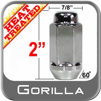 """Gorilla® 5/8"""" x 18 Chrome Lug Nuts Tapered (60°) Seat Right Hand Thread Chrome Sold Individually #76158HT"""