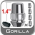 "Gorilla® 7/16"" x 20 Wheel Locks Tapered (60°) Seat Right Hand Thread Chrome 5 Locks w/Key #71671NB5"