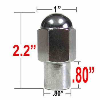 "Gorilla® 9/16"" x 18 Chrome Duallie Lug Nut Mag Seat Right Hand Thread Chrome Sold Individually #23198XL"