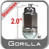 """Gorilla® 9/16"""" x 18 Stainless Steel Lug Nuts Tapered (60°) Seat Right Hand Thread Stainless Steel Sold Individually #96198SS"""