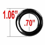 Gorilla® Black Lug Nut Washer Standard Mag Round Sold Individually #79902