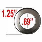 Gorilla® Chrome Lug Nut Washer Cragar Center Round Sold Individually #79912