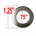 Gorilla® Chrome Lug Nut Washer Cragar Center Round Sold Individually #79914