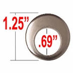 Gorilla® Chrome Lug Nut Washer Cragar Offset Round Sold Individually #79913