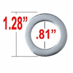 Gorilla® Chrome Lug Nut Washer Duallie Round Sold Individually #79915