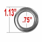 Gorilla® Silver Lug Nut Washer Duplex Mag Round Sold Individually #79901
