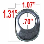Gorilla® Silver Lug Nut Washer Keystone Offset Oblong Sold Individually #79905
