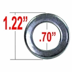 Gorilla® Silver Lug Nut Washer Short Shank Round Sold Individually #79903