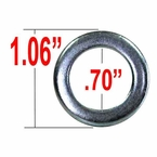 Gorilla® Silver Lug Nut Washer Standard Mag Round Sold Individually #79900
